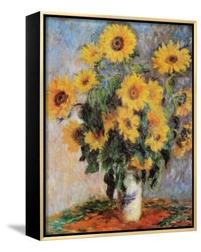 Sunflowers, c.1881-Claude Monet-Framed Canvas Print