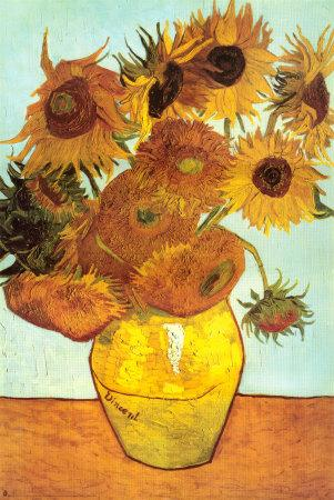 picture regarding Printable Pictures of Sunflowers titled Sunflowers, c.1888 Artwork Print via Vincent van Gogh