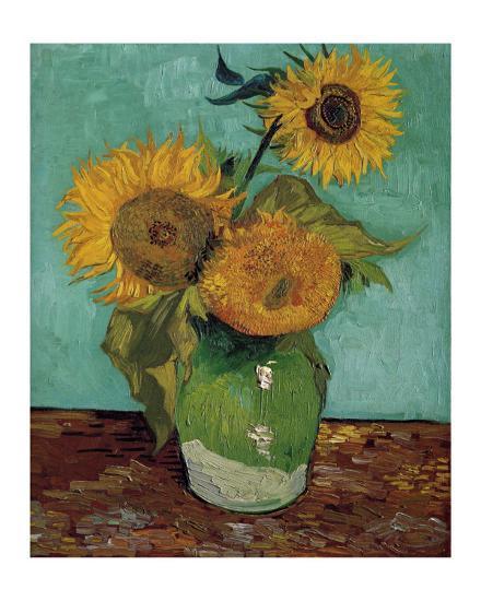 Sunflowers First Version Art Print Vincent Van Gogh Art Com