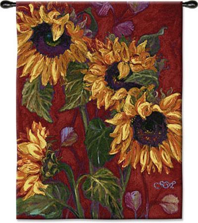Sunflowers II--Wall Tapestry