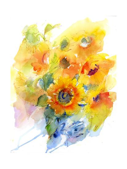 Sunflowers in Vase, 2016-John Keeling-Giclee Print