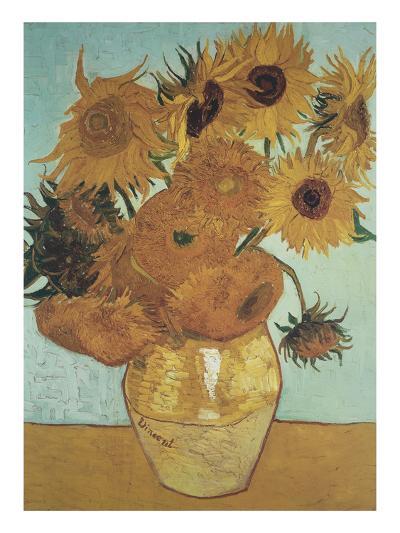 Sunflowers on Blue, 1888-Vincent van Gogh-Art Print
