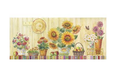 Sunflowers Potted on a Table-ZPR Int'L-Giclee Print