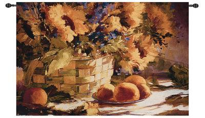 Sunflowers with Purple--Wall Tapestry