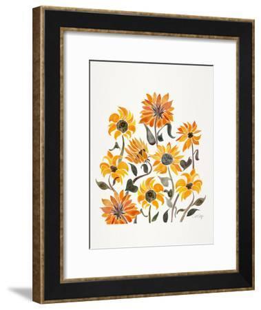 Sunflowers Yellow-Cat Coquillette-Framed Art Print