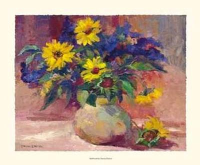 Sunflowers-Dawna Barton-Art Print