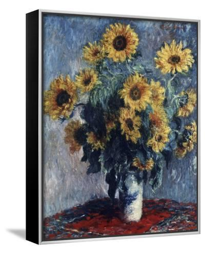 Sunflowers-Claude Monet-Framed Canvas Print