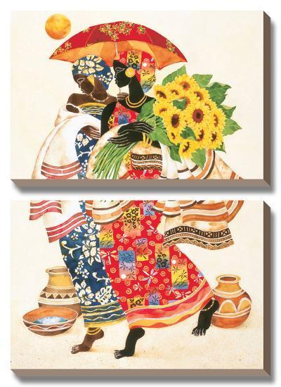 Sunflowers-Keith Mallett-Canvas Art Set