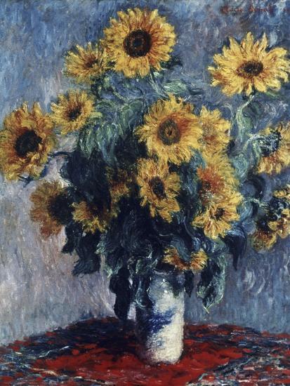 Sunflowers-Claude Monet-Giclee Print
