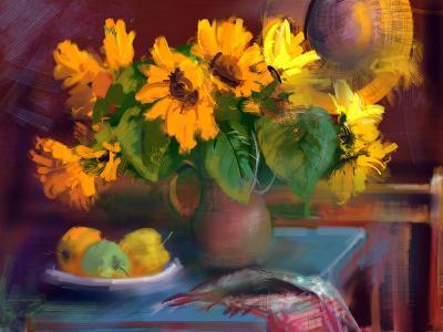 Sunflowers- yakymenko-Art Print