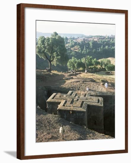 Sunken, Rock-Hewn Christian Church, in Rural Landscape, Unesco World Heritage Site, Ethiopia-Upperhall Ltd-Framed Photographic Print