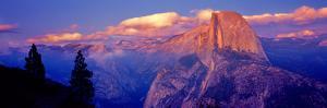 Sunlight Falling on a Mountain, Half Dome, Yosemite Valley, Yosemite National Park, California, USA
