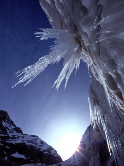 Sunlight Glints on the Bearded Face of Gangotri Glacier-George F^ Mobley-Photographic Print