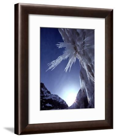 Sunlight Glints on the Bearded Face of Gangotri Glacier-George F. Mobley-Framed Photographic Print