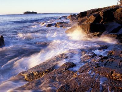 Sunlight Hits the Waves, Schoodic Peninsula, Maine, USA-Jerry & Marcy Monkman-Photographic Print