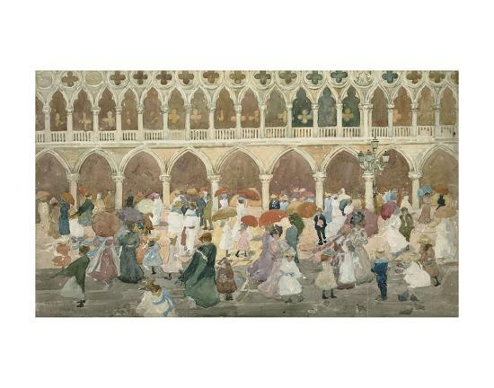 Sunlight on the Piazzetta, 1898–99-Maurice Brazil Prendergast-Art Print