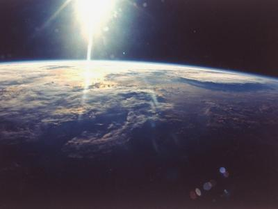 Sunlight over Earth Taken from Space Shuttle Discovery VIII Mission--Photographic Print