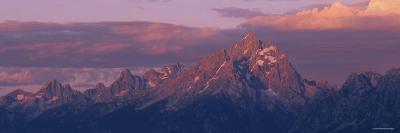 Sunlight over the Mountain Range, Grand Teton National Park, Wyoming, USA--Photographic Print
