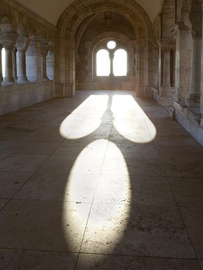 Sunlight Pouring Through Arched Windows, Fishermen's Bastion (Halaszbastya), Buda, Budapest, Hungar-Stuart Black-Photographic Print