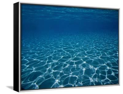 Sunlight Reflects on the Sea Floor Through Crystal Clear Blue Water-Raul Touzon-Framed Canvas Print