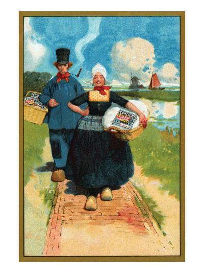 Sunlight Soap - Dutch Couple--Art Print