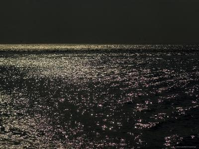 Sunlight Sparkling on the Water at Day's End-Todd Gipstein-Photographic Print