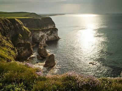Sunlight Strikes White Rocks at Portrush on the North Coast of Northern Ireland-Chris Hill-Photographic Print