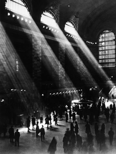 Sunlight Through the Windows at Grand Central Station--Photographic Print
