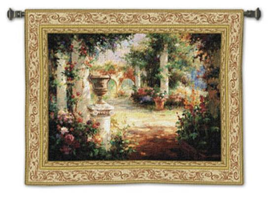 Sunlit Courtyard-Vail Oxley-Wall Tapestry