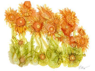 Sunlit Poppies I-Cheryl Baynes-Art Print
