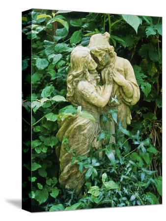 Statue of Lovers Amongst Hedera Helix (Ivy) Old Chalk Pit