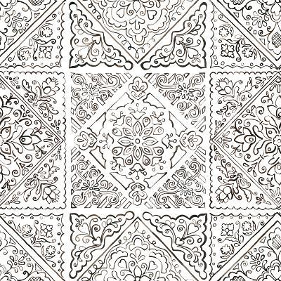 Sunny Bouquet Pattern IIIB-Beth Grove-Art Print