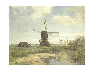Sunny Day, a Mill to a Waterway, C. 1860-1903-Paul Joseph Constantin Gabriel-Giclee Print
