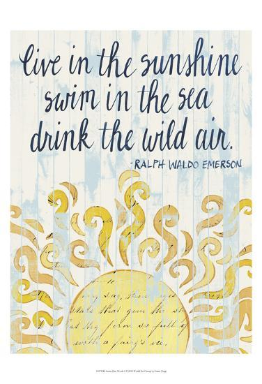 Sunny Day Words I-Grace Popp-Art Print