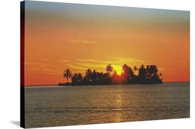 Sunny Island (Tropical Photo) Art Poster Print--Stretched Canvas Print
