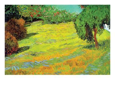 Sunny Lawn-Vincent van Gogh-Art Print