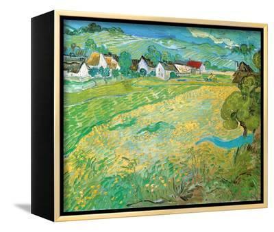 Sunny Meadow in Arles, c.1890-Vincent van Gogh-Framed Canvas Print