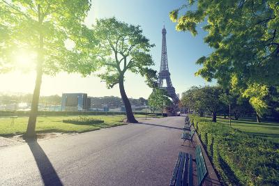 Sunny Morning and Eiffel Tower, Paris, France-Iakov Kalinin-Photographic Print