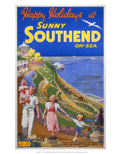 Sunny Southend-on-Sea, LNER/LMS, c.1940s--Art Print