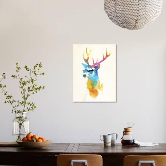 Sunny Stag Giclee Print Robert Farkas Art Com