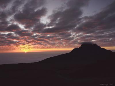 Sunrise Above Clouds at 5000 Meters, Mt. Kilimanja-Keith Levit-Photographic Print