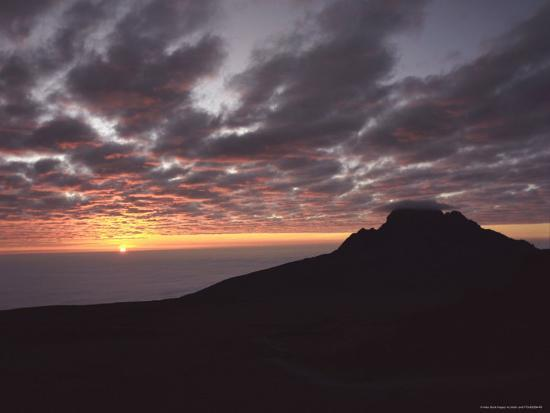 Sunrise Above Clouds at 5000 Meters, Mt. Kilimanja-Keith Levit-Photographic Print