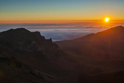 Sunrise Above Haleakala National Park, Maui, Hawaii, United States of America, Pacific-Michael Runkel-Photographic Print
