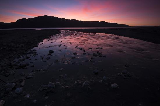Sunrise Above Lake Hawea and Mount Melina-Michael Melford-Photographic Print