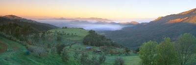 Sunrise across San Fernando Valley, California--Photographic Print