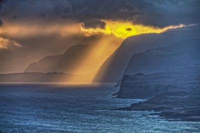 Sunrise Along Highest Sea Cliffs in the World on the North Shore of Molokai Island-Richard Cooke-Photographic Print