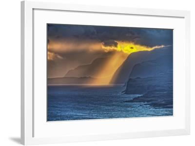 Sunrise Along Highest Sea Cliffs in the World on the North Shore of Molokai Island-Richard Cooke-Framed Photographic Print