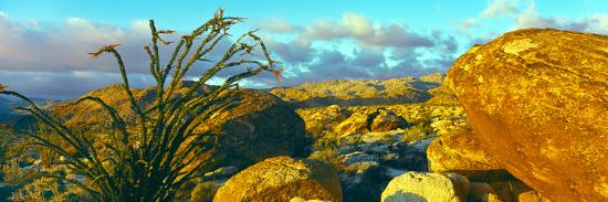 Sunrise Alpenglow Near Bow Willow Campground, Anza Borrego Desert State Park, California, USA--Photographic Print