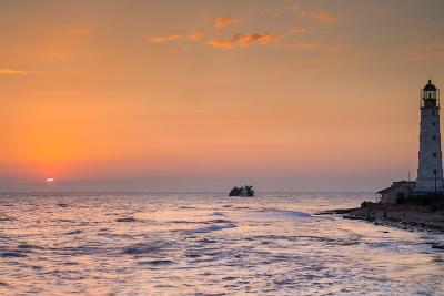 Sunrise and Lighthouse-sergejson-Photographic Print