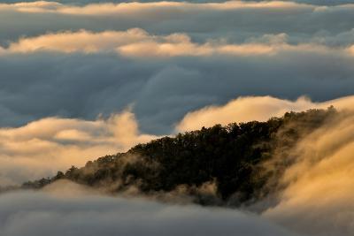 Sunrise and Mountain Mist, North Carolina-Adam Jones-Photographic Print